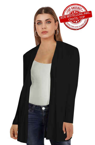 Vivienne Fashion Cardigan »Hochwertige Damen Modal Strickjacke ohne Verschluss«
