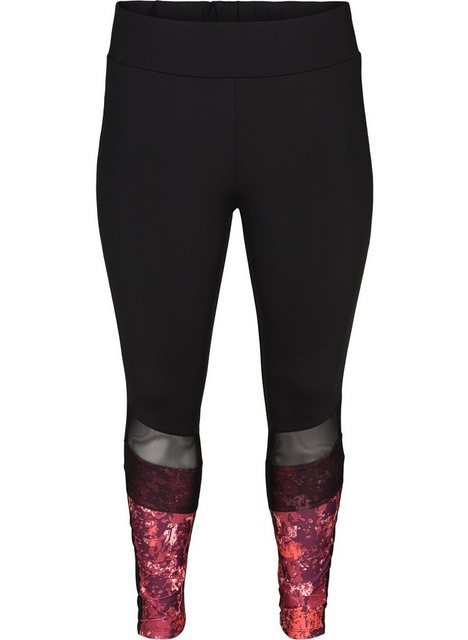 Hosen - Active by ZIZZI Trainingstights Große Größen Damen 7 8 Stretch Trainings Tights mit Mesh und Print ›  - Onlineshop OTTO