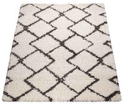 Hochflor-Teppich »Maghreb 76«, Paco Home, rechteckig, Höhe 70 mm, Scandi Design, Wohnzimmer