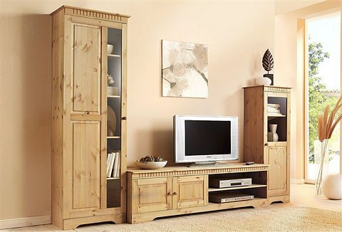 wohnwand 3 tlg home affaire breite 267 cm otto. Black Bedroom Furniture Sets. Home Design Ideas