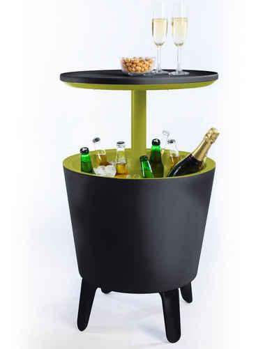Keter Beistelltisch »Cool Bar, Beistelltisch mit Kühlmöglichkeit, Partytisch Stehtisch, Bistrotisch Cocktailbar ausziehbar, Kühlbox kühlt Getränke Eisbox, Gartentisch«, UV- und witterungsbeständig