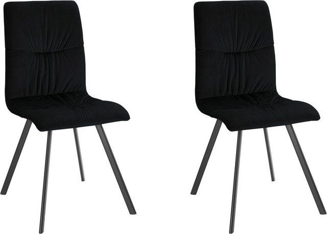 Stühle und Bänke - INOSIGN Esszimmerstuhl »Balera« 2er Set, aus schönem weichen Samtvelours Bezug, in verschiedenen Farbvarianten  - Onlineshop OTTO