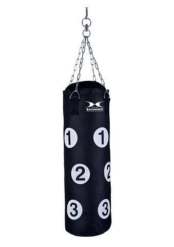 Boxsack, Hammer®, »Sparring«, mit Trefferpunkten in schwarz