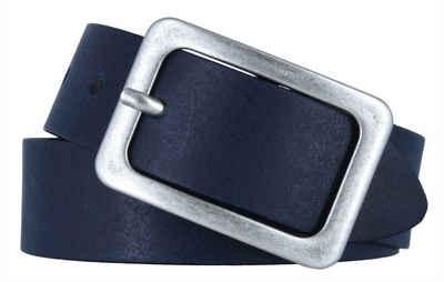 Vanzetti Damen Gürtel Metall-Optik 75-95 cm Farbwahl Metall Schnalle Leder