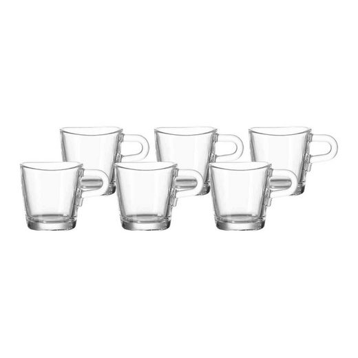 LEONARDO Espressoglas »LOOP Espressotasse 50ml 6er Set« (6-tlg)