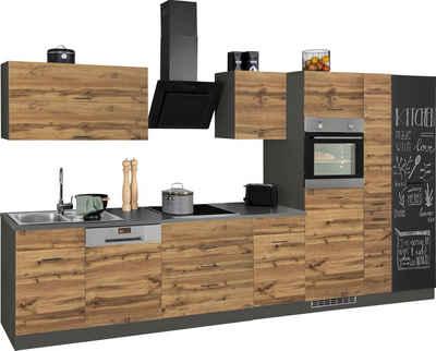 HELD MÖBEL Küchenzeile »Trier«, mit E-Geräten, Breite 380 cm