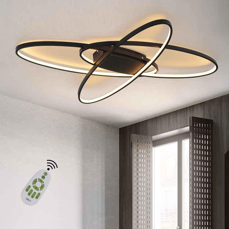 ZMH LED Deckenleuchte »LED Dimmbar Deckenleuchte Modern Wohnzimmerlampe Warmweiß/Neutralweiß/Kaltweiß 75W Innen Dekorative Deckenbeleuchtung für Wohnzimmer, Schlafzimmer, Küche und Büro«