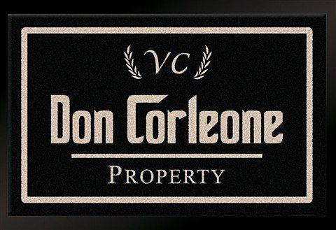 Fußmatte, Hanse Home, »Don Corleone - Mafia«, rutschhemmend beschichtet, strapazierfähig in schwarz