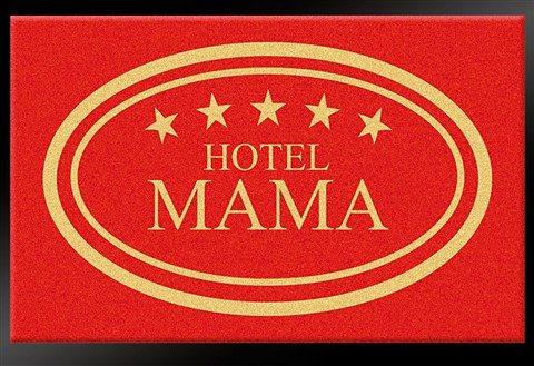 Fußmatte »Hotel Mama - 5 Sterne«, Hanse Home, rechteckig, Höhe 8 mm in rot