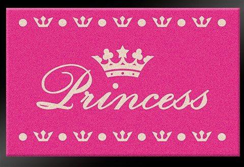 Fußmatte »Princess«, Hanse Home, rechteckig, Höhe 6 mm, gummierter Rücken in rosa