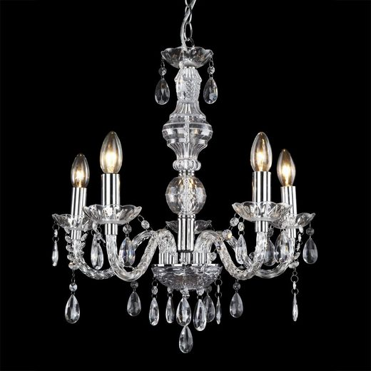 lux.pro Kronleuchter, »Elegance« Ø 52 cm mit Kunstkristallen