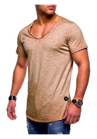 behype Marškinėliai »NUKE« su V-Ausschnitt