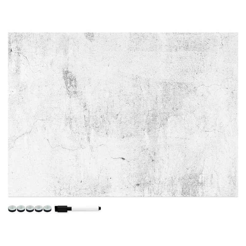 Navaris Memoboard, Magnetpinnwand Memoboard zum Beschriften - 70x50 cm Notiztafel - Tafel abwaschbar mit Magneten Stift