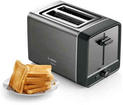 BOSCH Toaster TAT5P425DE DesignLine, 2 kurze Schlitze, 970 W
