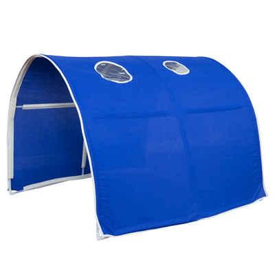 Homestyle4u Betttunnel »Tunnel Bogen Zelt Bettzelt blau Bettdach«