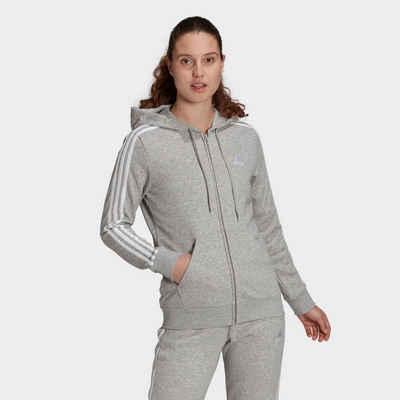 adidas Performance Kapuzensweatjacke »3-STRIPES FULL ZIP HD ESSENTIALS REGULAR WOMENS«