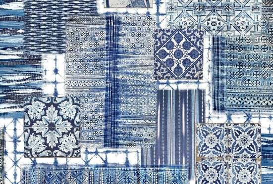 Architects Paper Fototapete »Atelier 47 Patchwork 3«, glatt, mehrfarbig, (4 St)