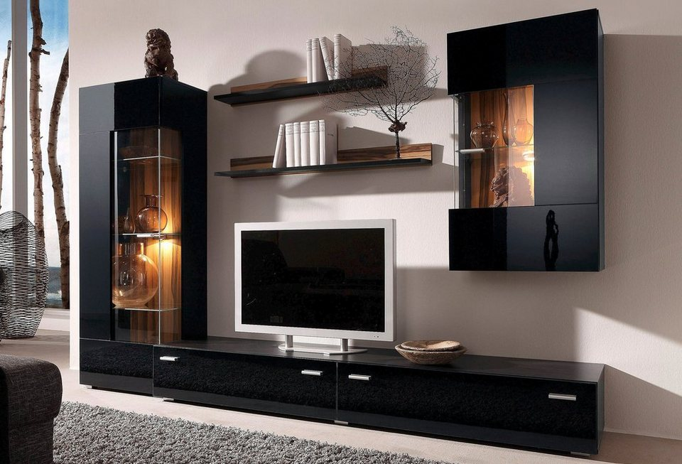 wohnwand 5 tlg online kaufen otto. Black Bedroom Furniture Sets. Home Design Ideas