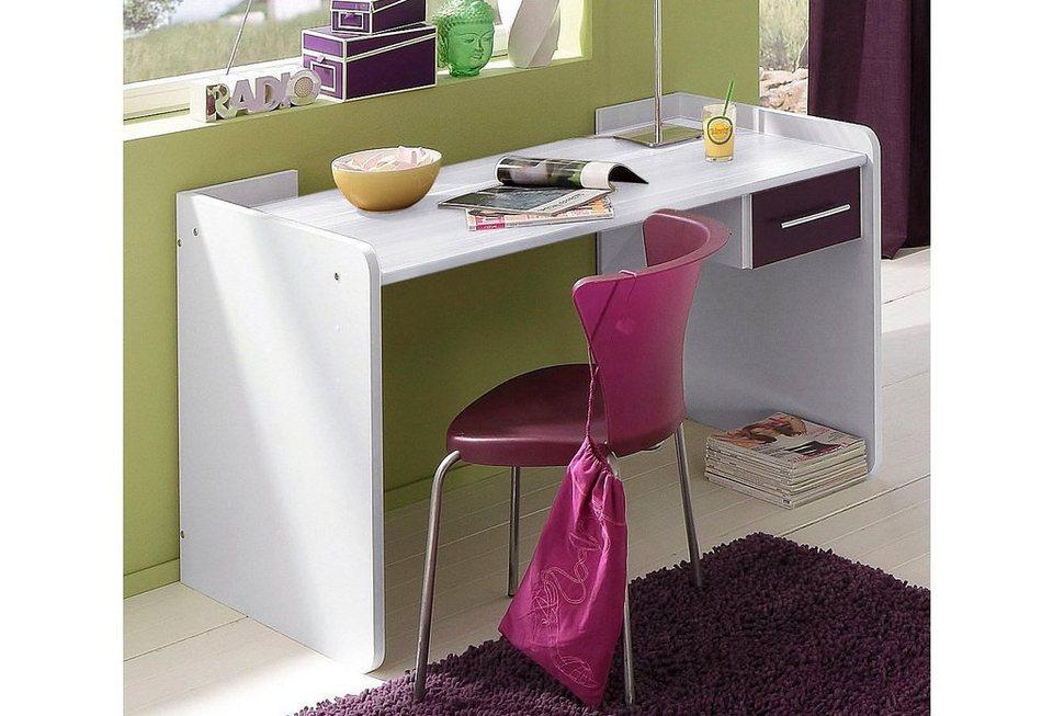 Wimex Schreibtisch in weiß/brombeer