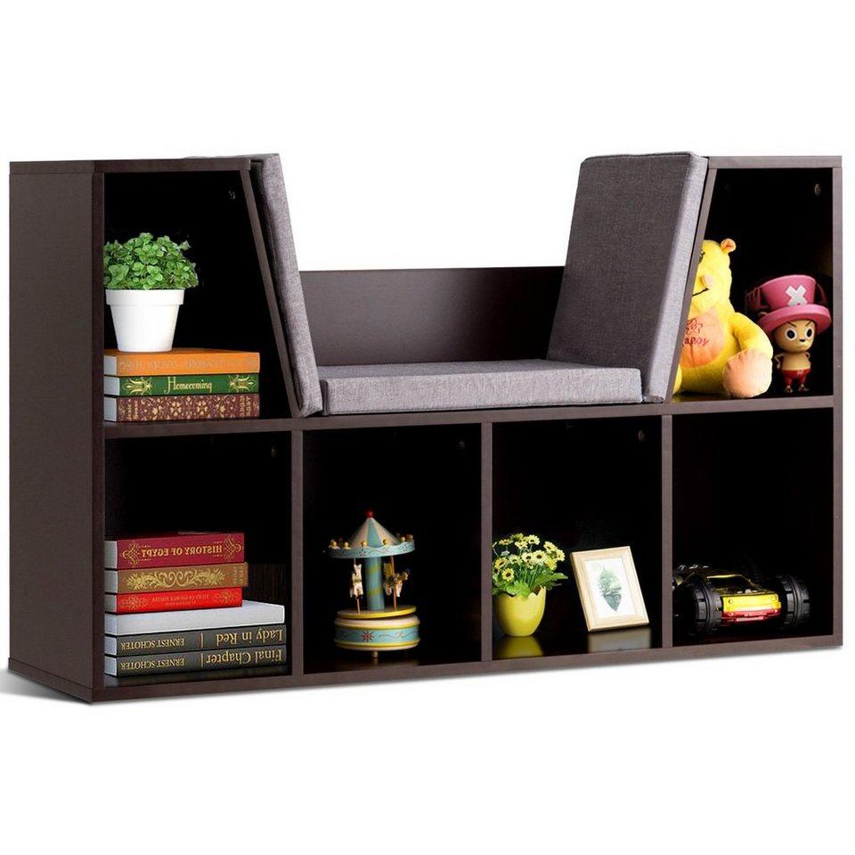 COSTWAY Bücherregal »Bücherregal«, mit Kissen Raumteiler Bücherschrank 21  Fächer online kaufen   OTTO