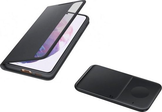 Samsung Smartphone-Hülle »Smart Clear View Cover inkl. Duo Wireless Charger S21+« 17,02 cm (6,7 Zoll)
