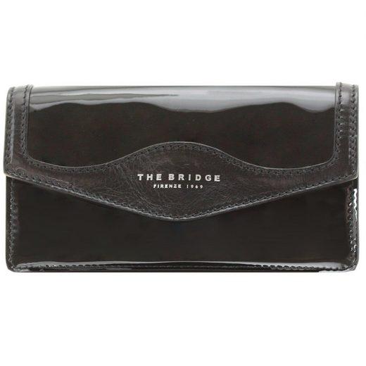 THE BRIDGE Glitter Clutch Tasche 22 cm Leder
