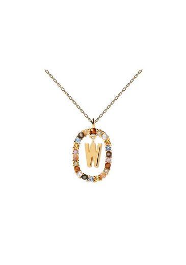 PDPAOLA Halsband »Buchstabenkette W«
