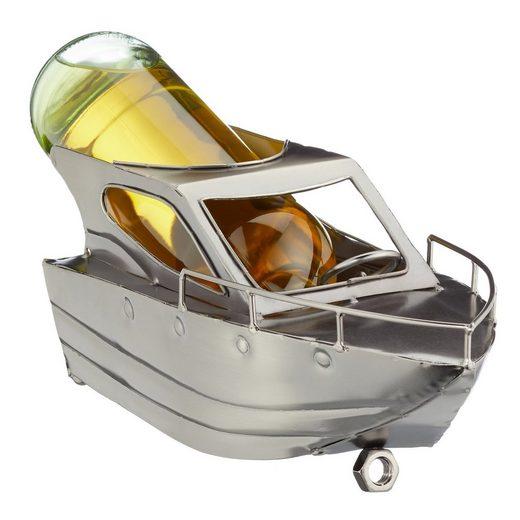 HTI-Living Weinflaschenhalter »Weinflaschenhalter Motorboot«, (1-St)