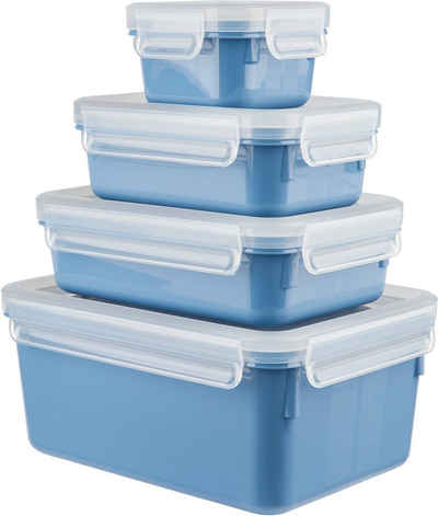 Emsa Frischhaltedose »Clip & Close Color Edition«, Kunststoff, (Set, 4-tlg), auslaufsicher, hygienisch, innovative Deckeltechnologie, (0,2/0,55/0,8/2,2 Liter)