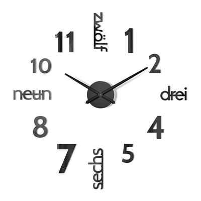 Cander Berlin Wanduhr »MNU 180 S« (XXL, 100 cm Durchmesser, Wandtattoo)