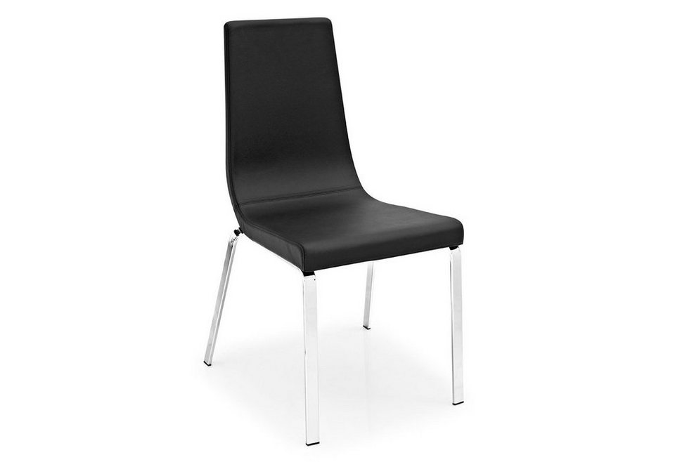 connubia by calligaris Stühle »CB/1095-LH Cruiser Leather« (2 Stck.) in schwarz
