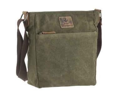 Greenburry Umhängetasche »Vintage Hemp«, Schultertasche, MessengerBag, Hanf und Leder