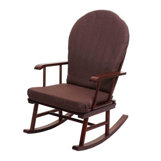 MCW Schaukelstuhl »MCW-F95«, Gefederte Sitzfläche, Abnehmbare Polster, Weiche Polsterung, Schaukelfunktion