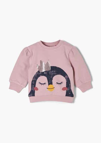 s.Oliver Sweatshirt »Sweatshirt mit Frontprint« (1-tlg) Pailletten