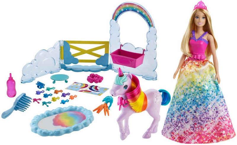 Barbie Anziehpuppe »Dreamtopia Prinzessin« (Set), inkl. Einhorn mit Farbwechsel
