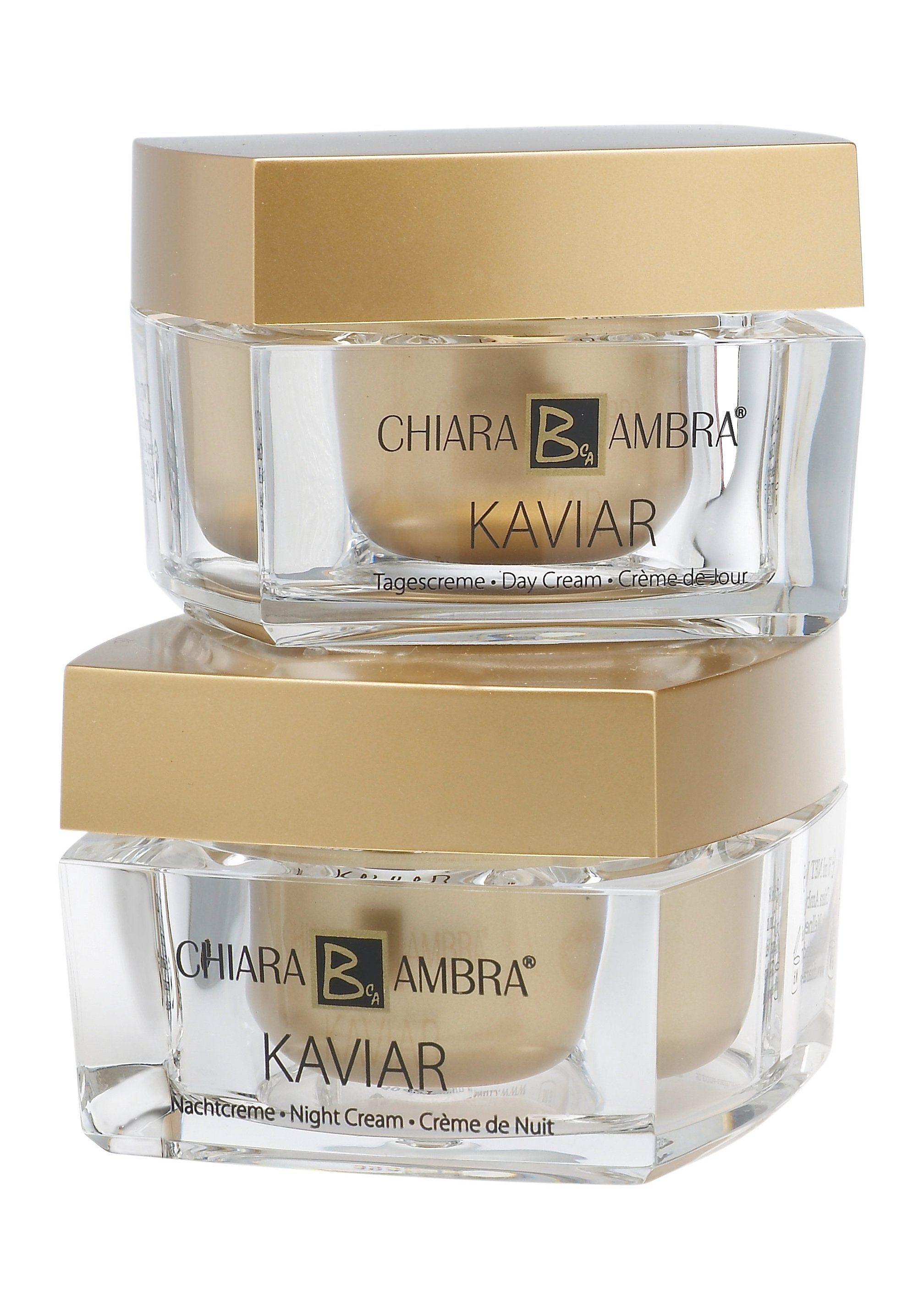 Chiara Ambra®, »Kaviar-Pflegeset«, Anti-Aging Tages- & Nachtcreme (2-tlg.)