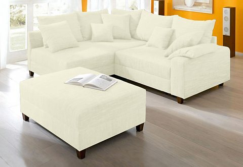 Home affaire Hocker, Breite 110 cm in creme