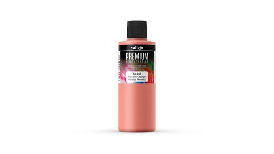 Vallejo Bastelnaturmaterial »Premium Color Pearl & Metallics Vallejo 63043 Metallic Orange 200ml Airbrush Farbe«, (1-tlg)