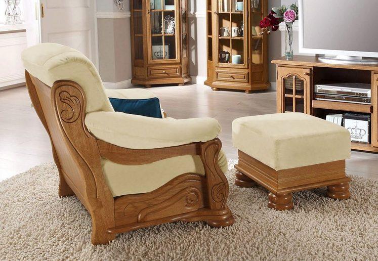 Max Winzer® Hocker »Texas«, mit dekorativem Holzgestell