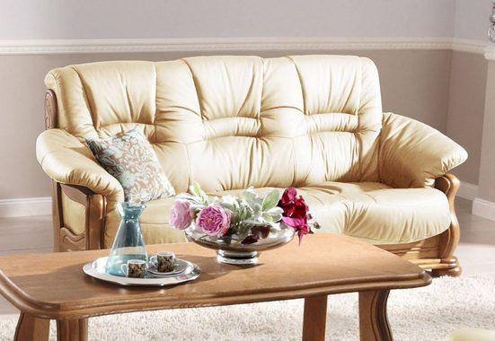 Max Winzer® Chesterfield-Sofa »Texas«, mit dekorativem Holzgestell, Breite 202 cm