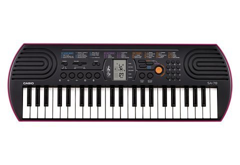 Mini-Keyboard, Casio®, »SA-78« in schwarz-pink