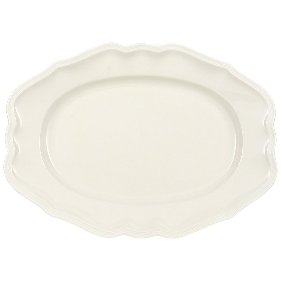 VILLEROY & BOCH Platte oval 37cm »Manoir« in Weiss