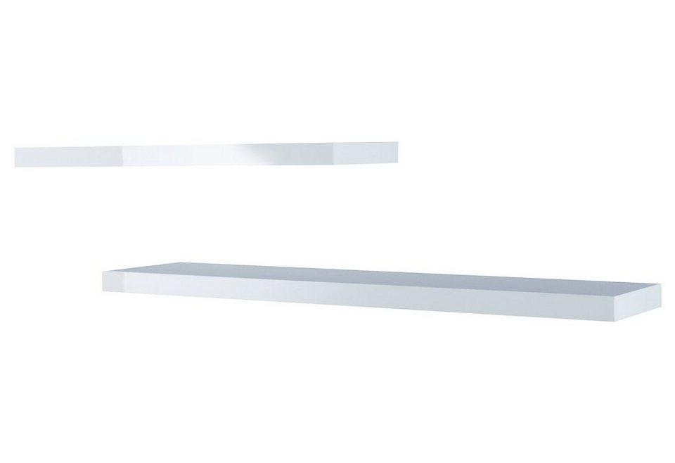 HMW Wandboard-Set »Cary« (2-tlg) in weiß Hochglanz