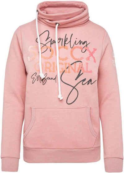 SOCCX Sweatshirt Limited Edition mit hohem Schalkragen