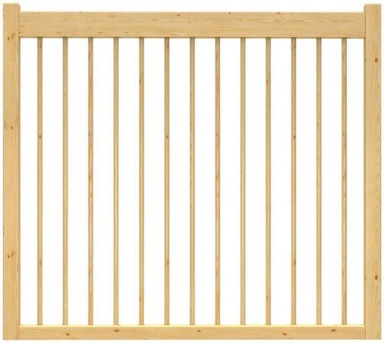 DOLLE Brüstungsgeländer »Lyon«, L: 100 cm, kiefer, mit Holzstäben