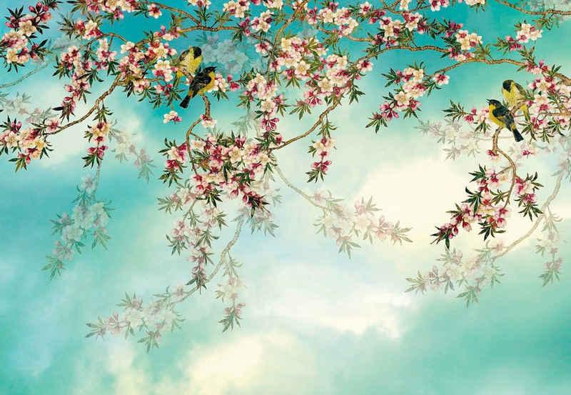 Komar Fototapete »Sakura«, glatt, bedruckt, Wald, geblümt, (Set), ausgezeichnet lichtbeständig