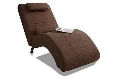 COLLECTION AB Relaxliege, in elegantem Design, wahlweise mit Kippfunktion, frei im Raum stellbar