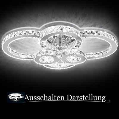 Einfeben Deckenleuchte »LED Kristall Deckenleuchte«, Seilsystem, Energieklasse A++
