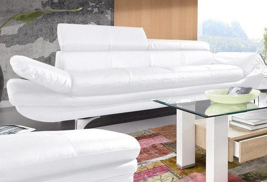 COTTA Polstergarnitur, (Set), Set: bestehend aus 3-Sitzer und Hocker, Inklusive Rückenverstellung