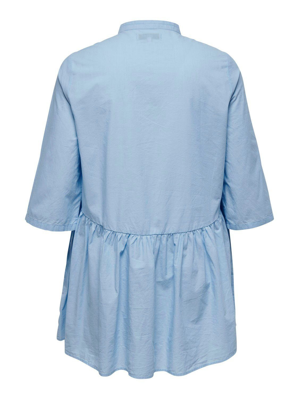 ONLY CARMAKOMA Blusenkleid mit Raffung am Rockteil